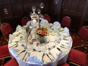 wedding meal table decoration in Inverness,