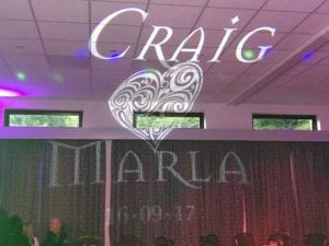 Custom wedding Gobo.