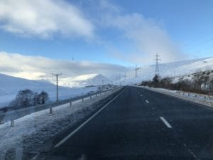 Beautiful mountain scenery on the A9.
