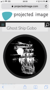 Ghost Ship Gobo