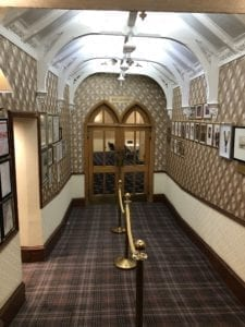 The entrance to the ballroom at The Royal George Hotel Perth.