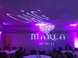 Custom Gobo for a wedding.