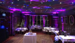 Mood lighting at Bunchrew House Hotel Inverness