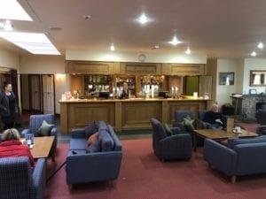 The bar at Murrayshall Hotel Perth.