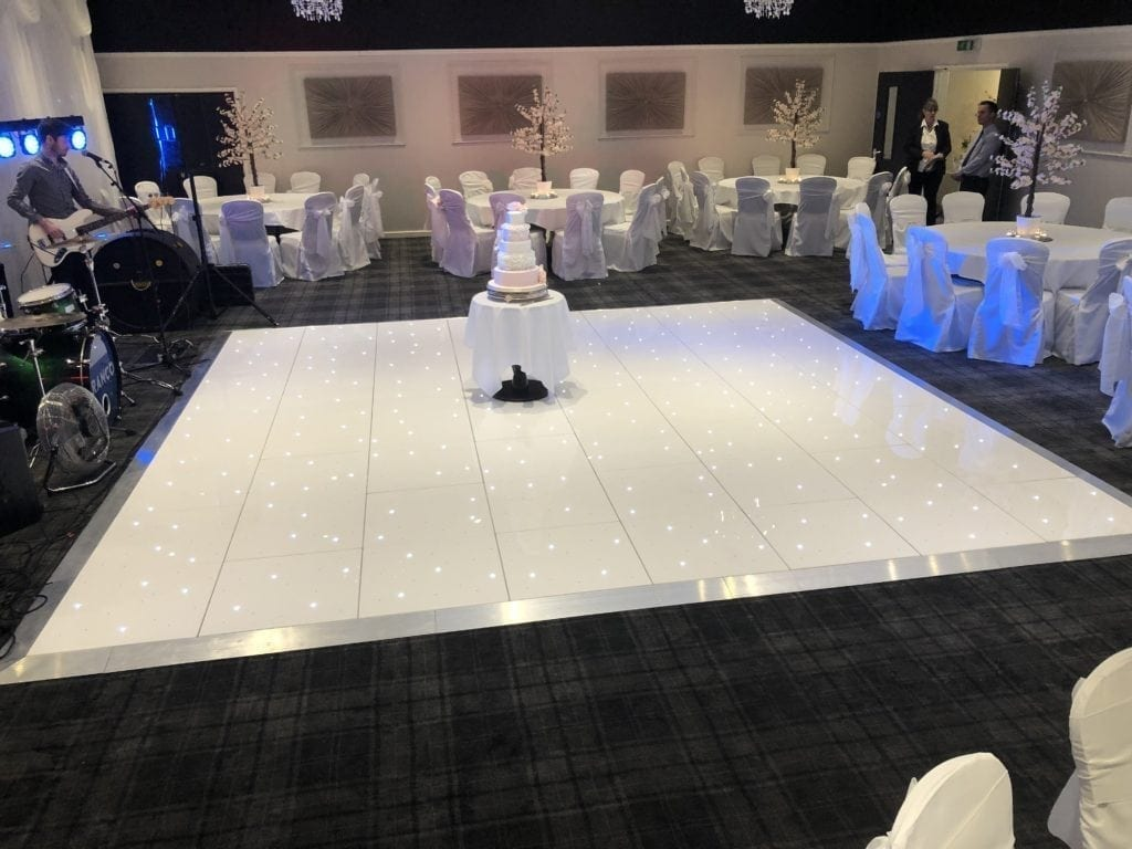 LED dance floor hire Scotland | White LED dance floor