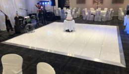 White LED dance floor.