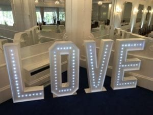 LED giant letters.