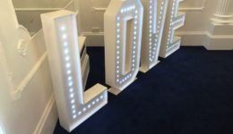 "LED ""LOVE"" letters."