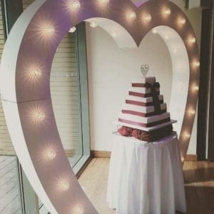 7ft tall love heart arch