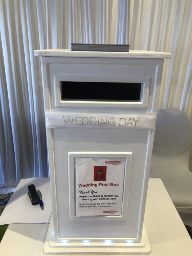 Wedding decor Scotland | Wedding post box