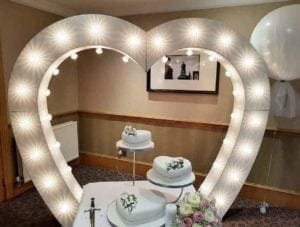 Wedding Djs Fife | Love heart arch.