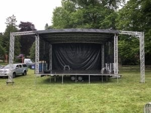 The main stage at Fyvie Festival.