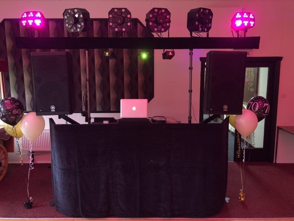 My mobile disco at Crichton Golf Club Dumfries.