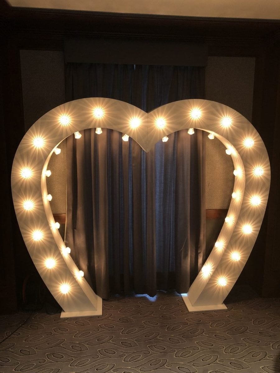 Wedding decor Scotland | love heart arch.