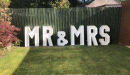 4ft Led Mr & Mrs giant letters.