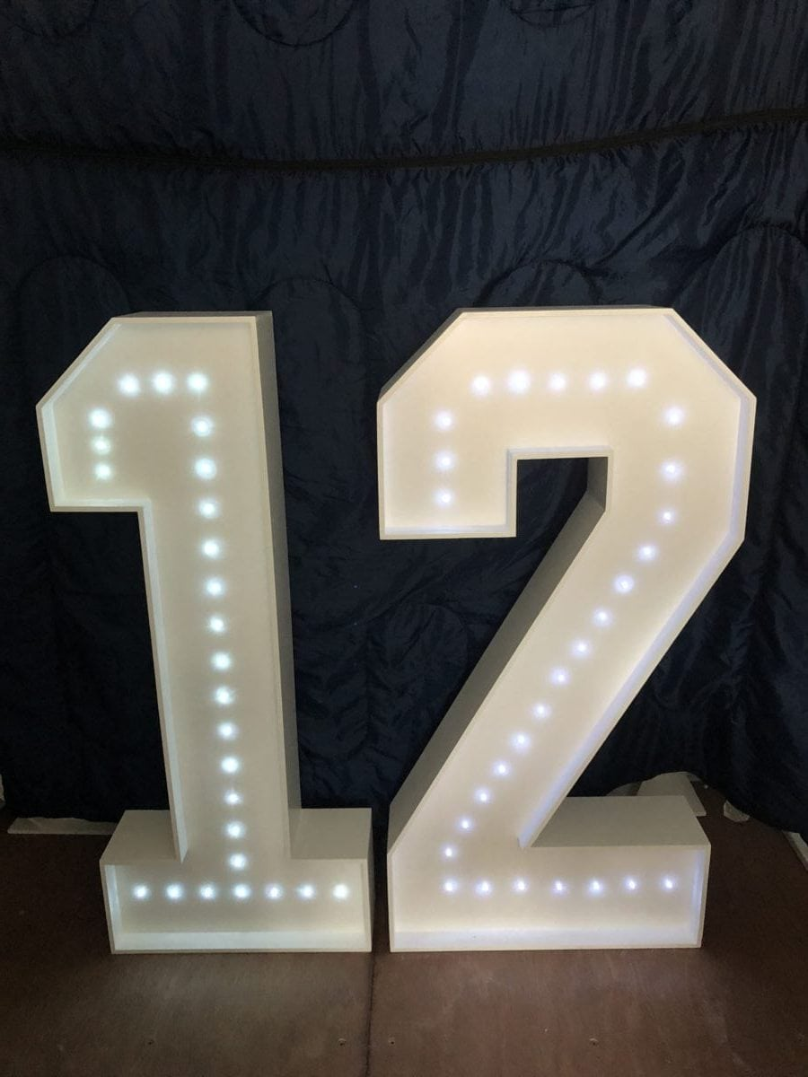 """Giant letter hire """"12"""""""