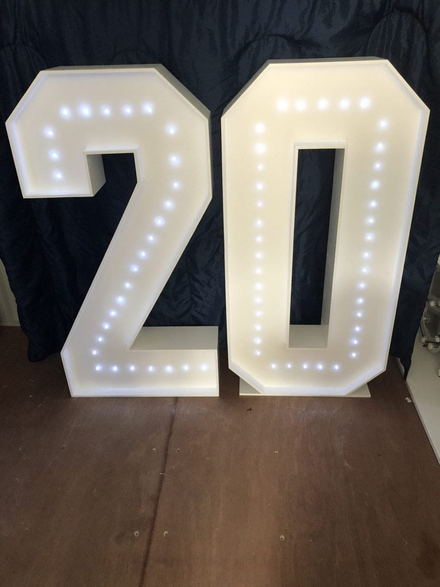 """4ft tall giant letters """"20"""" Giant letter hire"""