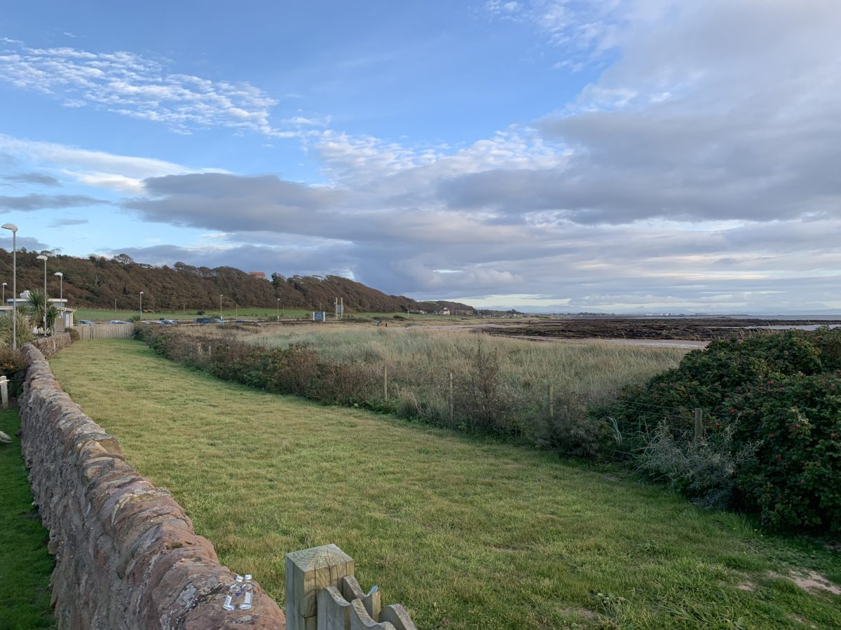 The beautiful view out to sea from The Waterside Hotel in West Kilbride.