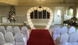 My 7ft tall heart arch. This would look good at Keavil House Hotel.
