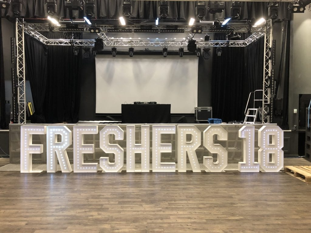 My 4ft tall giant letters supplied to St Andrews University for Freshers 18 week.