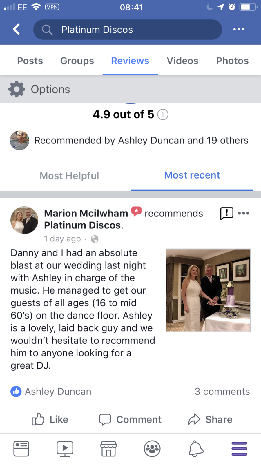 Banchory Lodge Hotel wedding review.