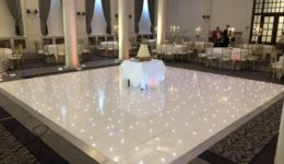 Led dance floor hire at The Principal George Hotel Edinburgh.