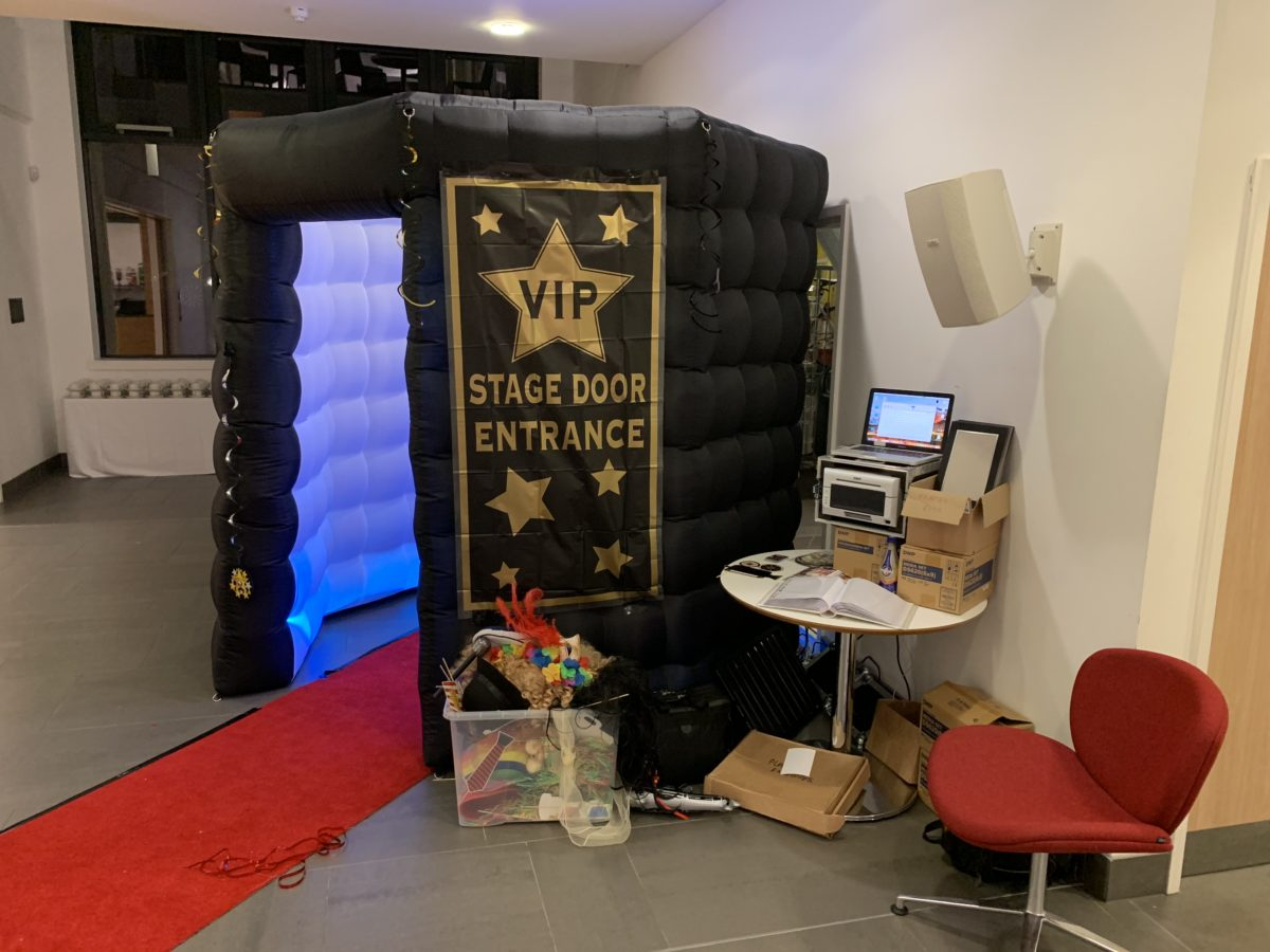 Photo booth hire with a Hollywood theme at Johnstone Town Hall. This is included in my wedding special offer. Wedding decor deal.