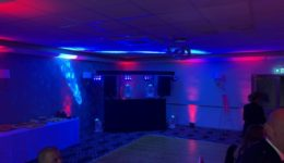 Disco and mood lighting at Gretna Hall Hotel.