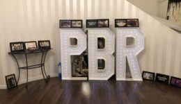 Giant letter hire at PBR in Aberdeen.