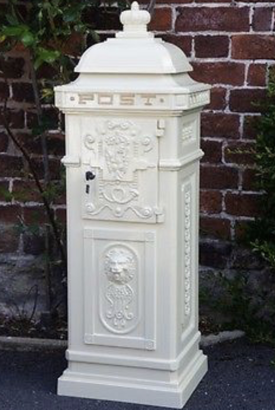 Freestanding wedding post box.