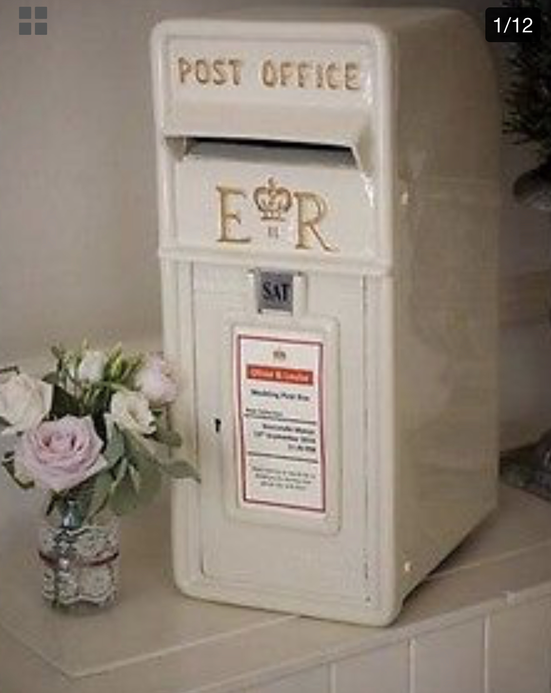 Traditional wedding post box.