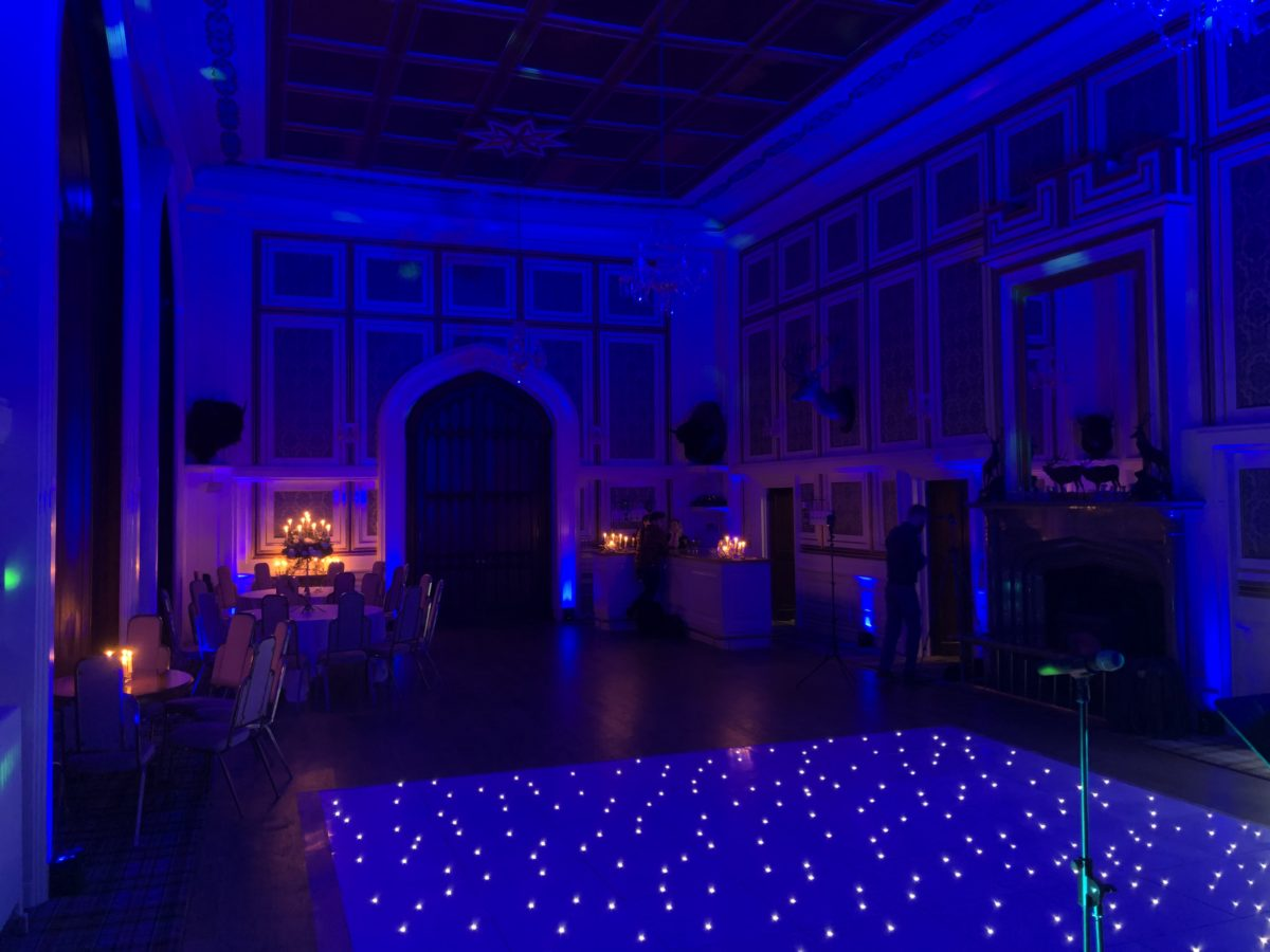My mood lighting and wash lighting at Drumtochty Castle as part of the amazing wedding special offer!