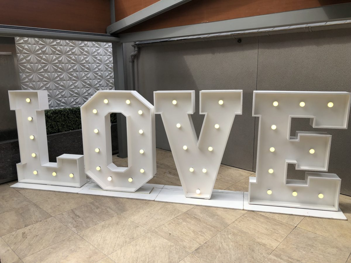 "5ft ""LOVE"" giant Letters."