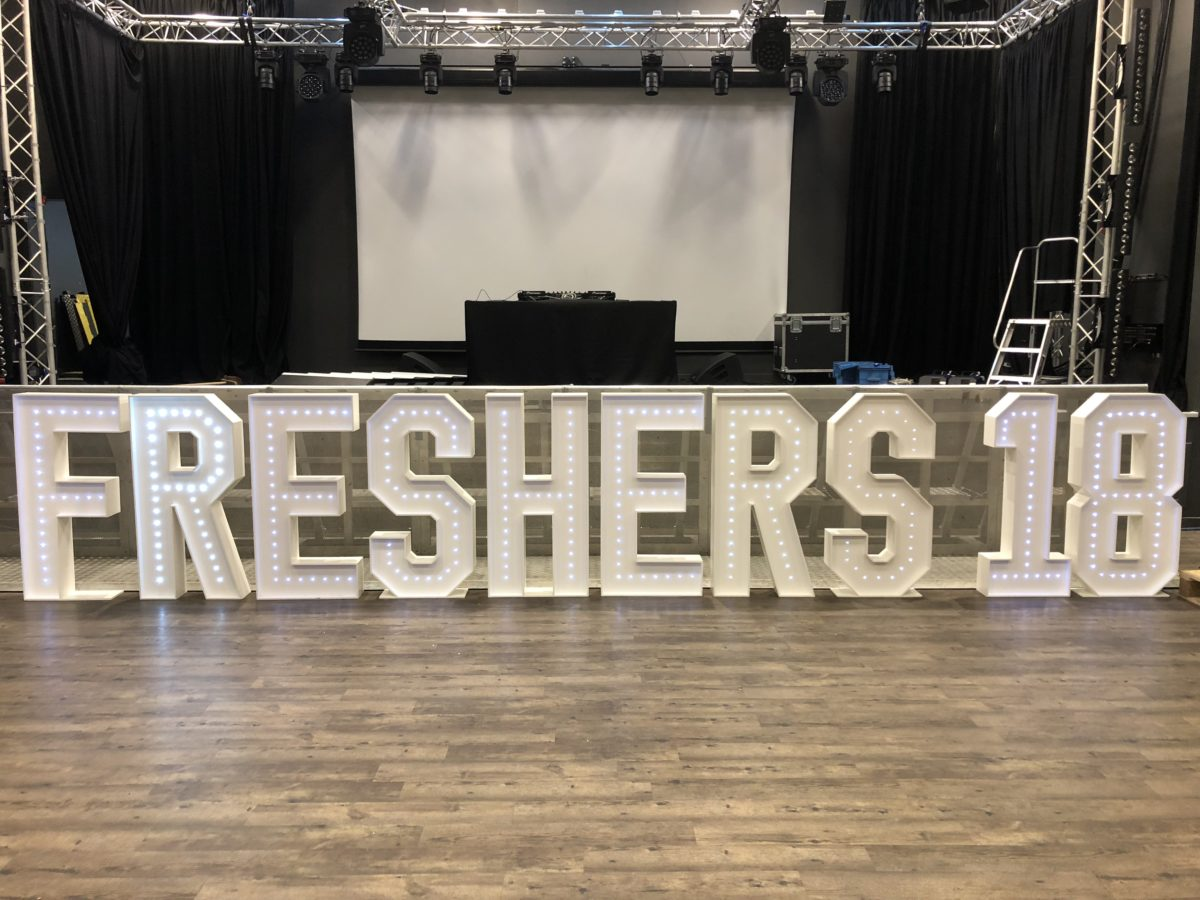 Giant letter hire at St Andrews University.