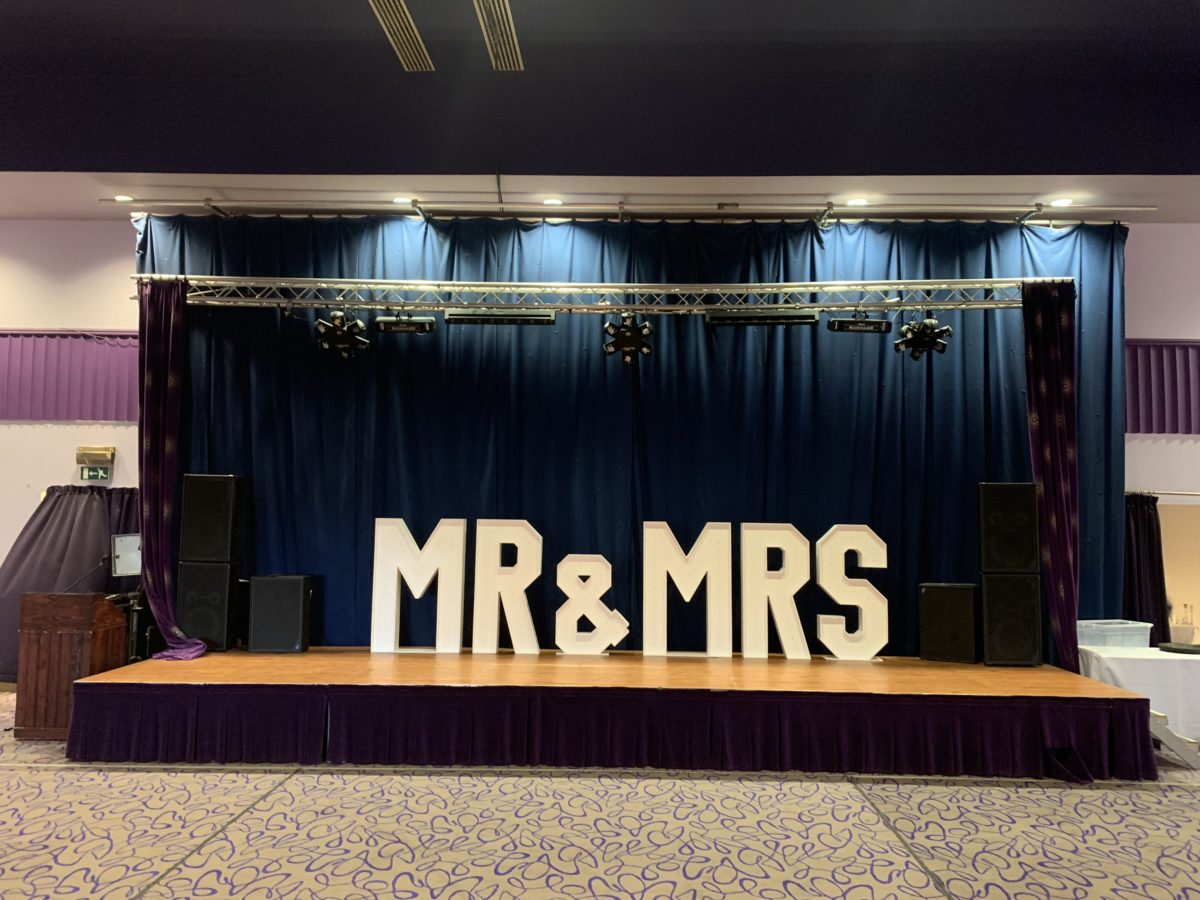 "My ""MR & MRS"" giant letters at Beancross Farm near Falkirk and Grangemouth. Part of our wedding decor range."